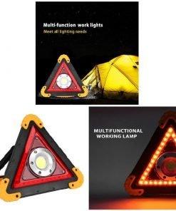 Triangle Multifonctions Lampe davertissement Chargeur USB Lampe à LED dextérieur 1